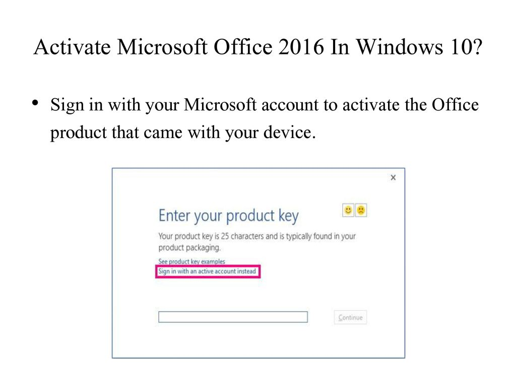 activate microsoft office 2016 windows 10