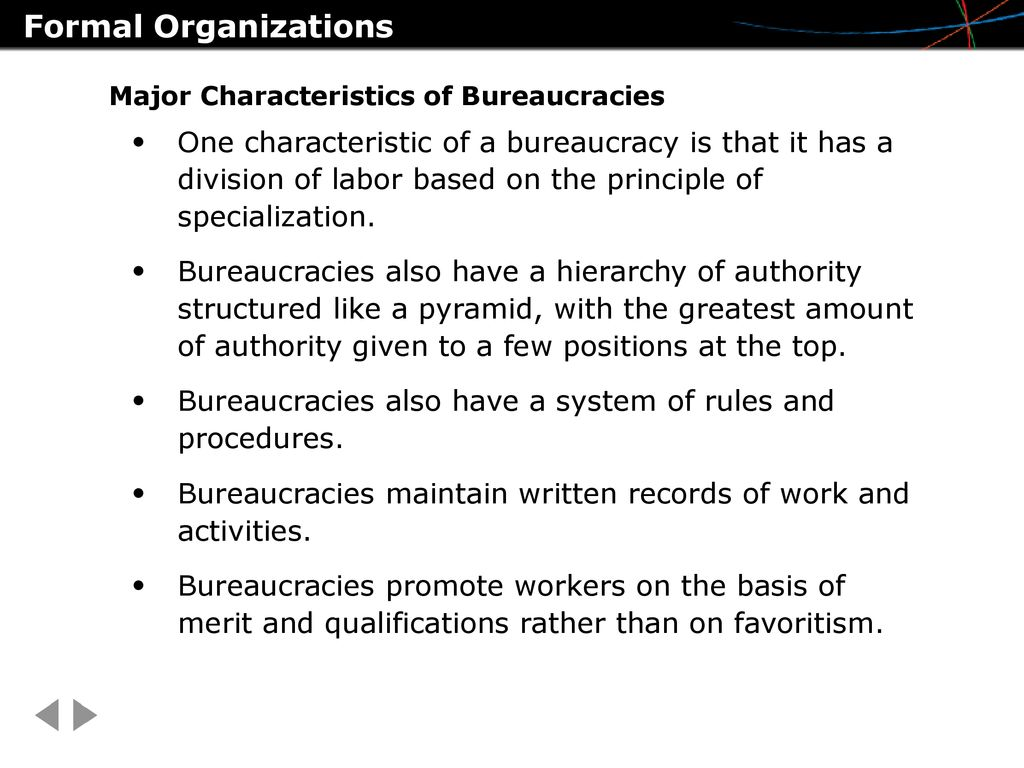 what is a characteristic of a bureaucracy