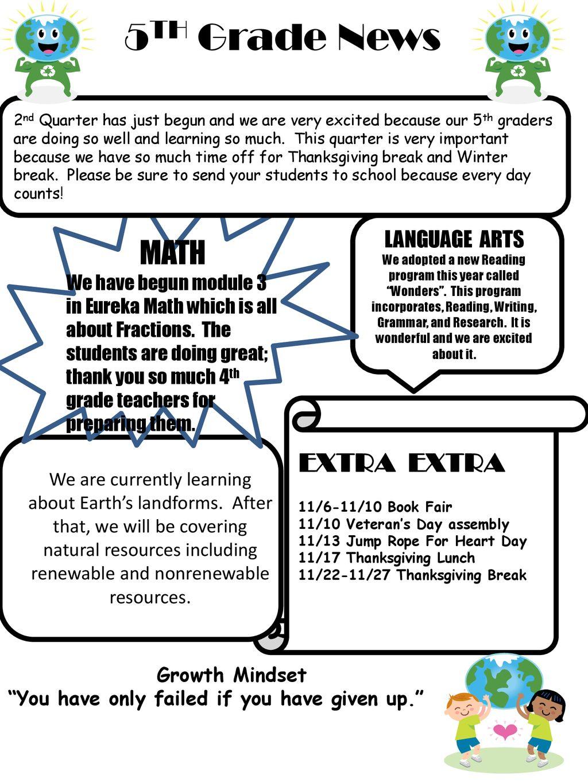 5TH Grade News MATH EXTRA EXTRA LANGUAGE ARTS - ppt download