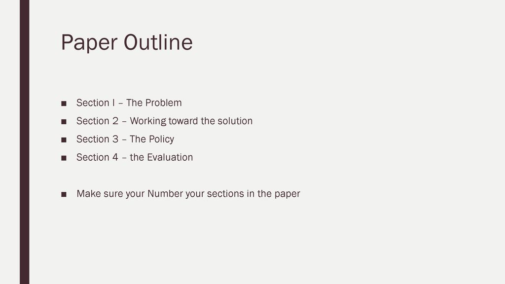 policy paper outline