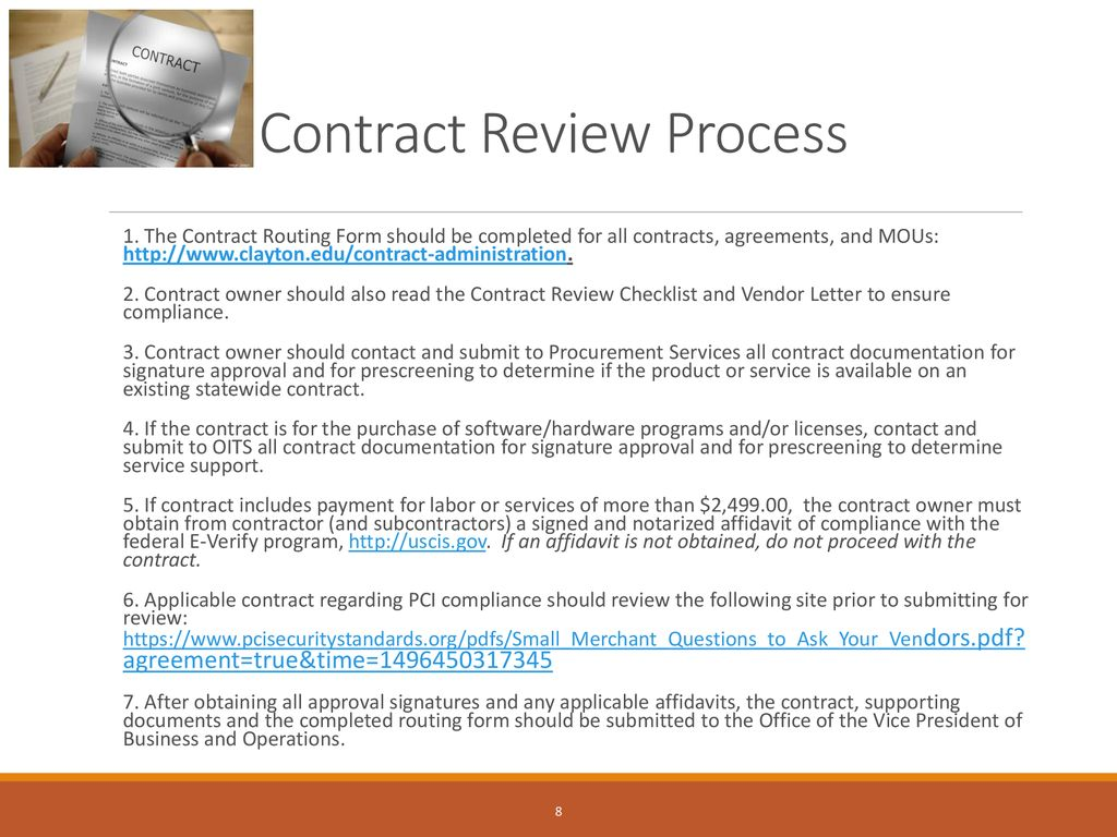 Contract Review and Processing - ppt download