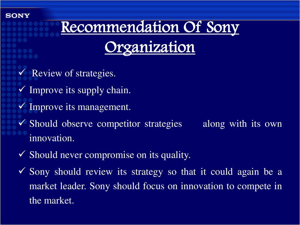 sony innovation strategy