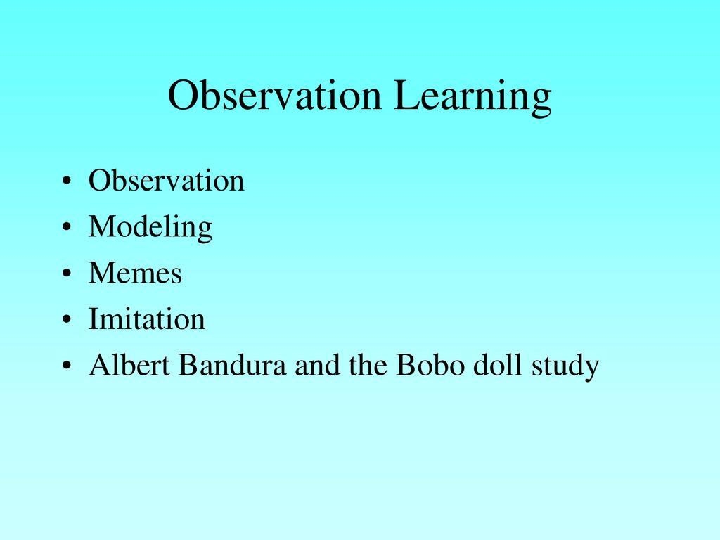 Observational Learning Ppt Download