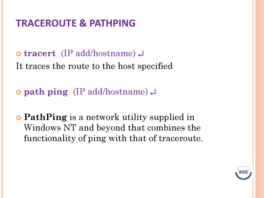 NETWORK TROUBLESHOOTING COMMANDS - ppt download