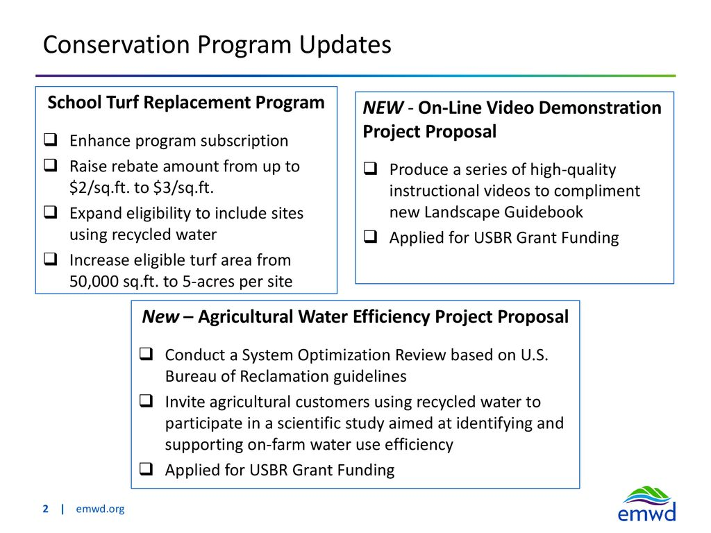 Water Conservation Update - ppt download
