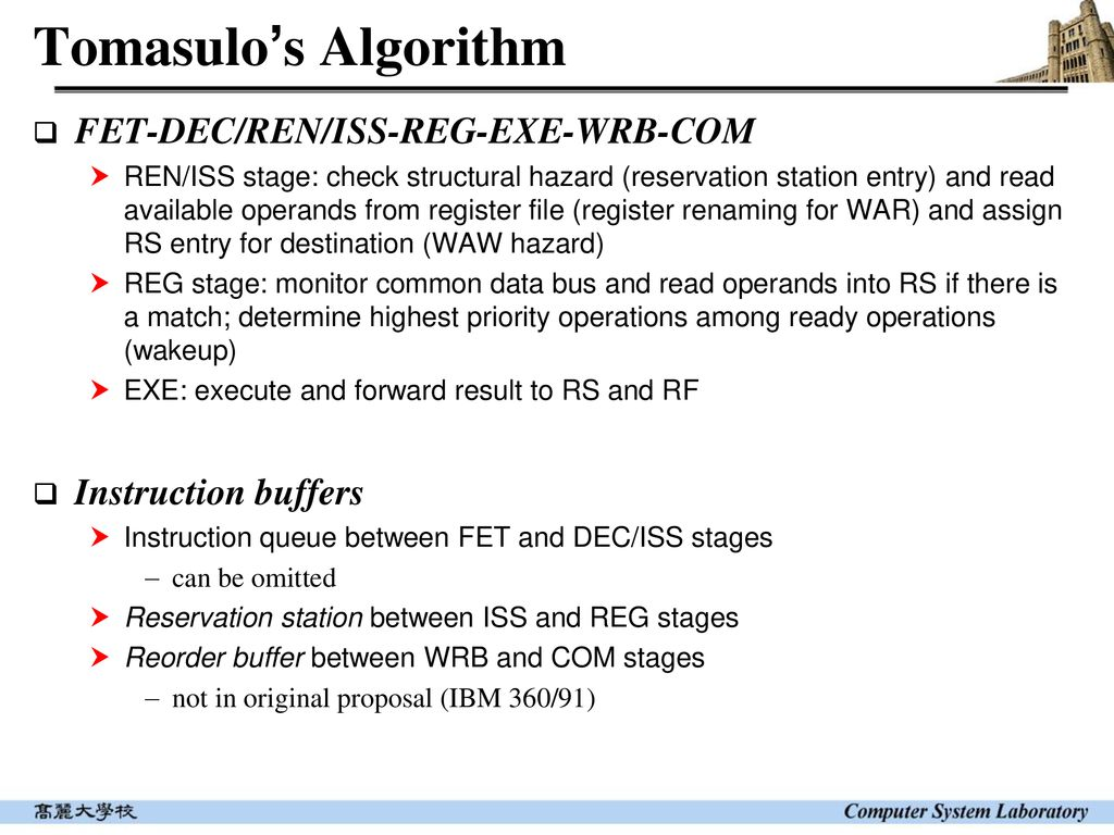 Microprocessor Microarchitecture Dynamic Pipeline Ppt Download Rf Buffer Stage 8 Tomasulos