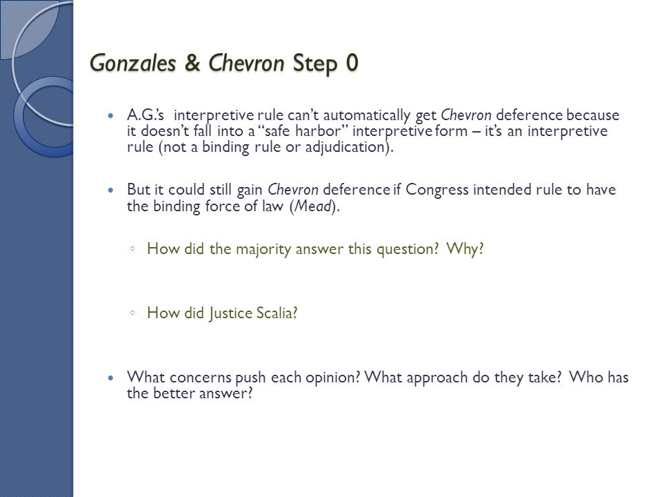 Gonzales & Chevron Step 0
