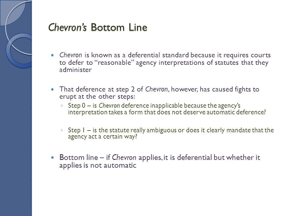 Chevron's Bottom Line