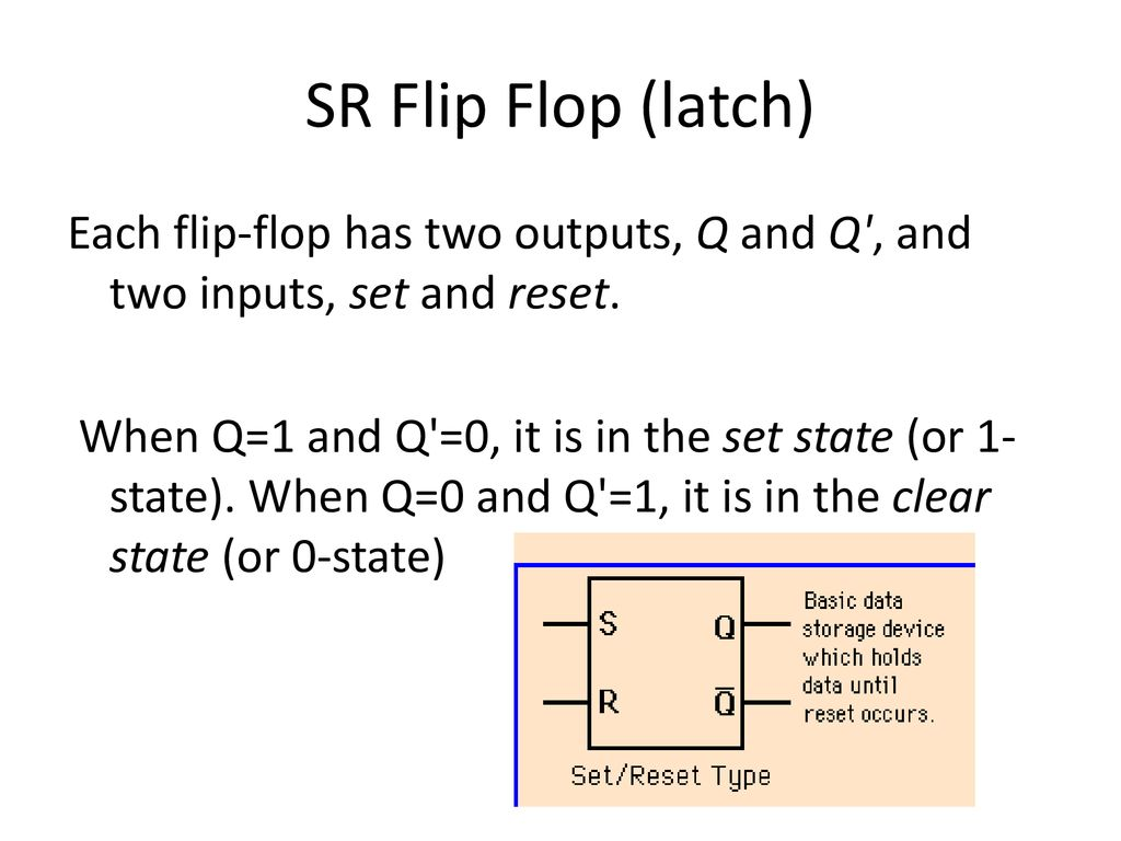 Flip Flop Ppt Download Flipflop Where Reset Happens With Sr Electrical Latch