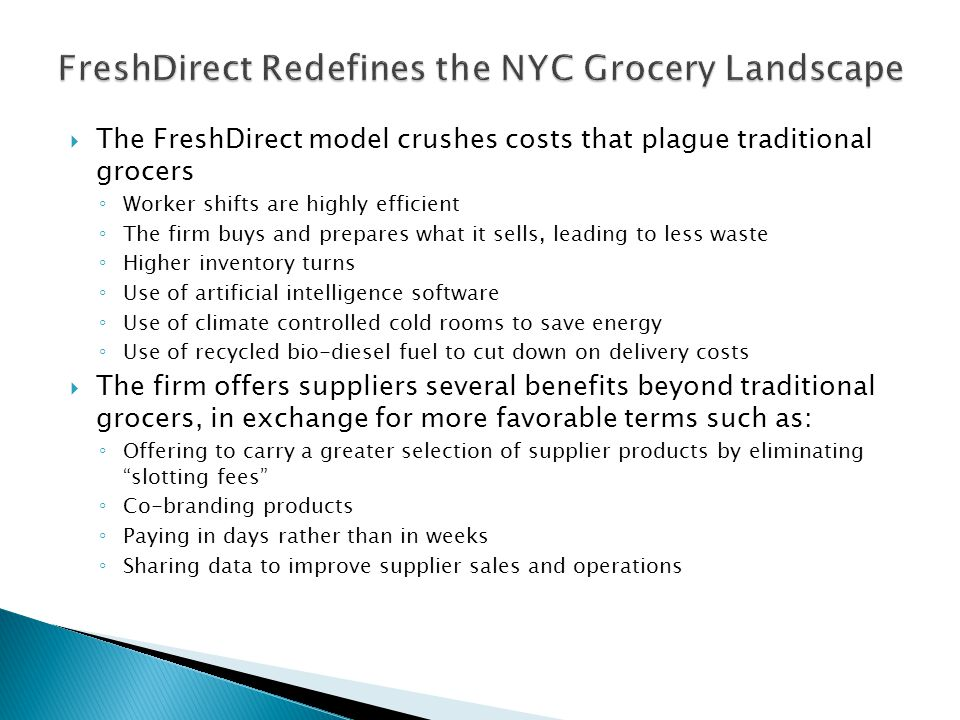 FreshDirect Redefines the NYC Grocery Landscape
