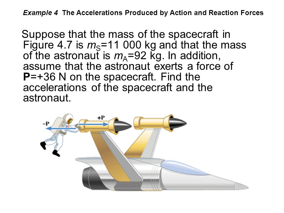 Example 4 The Accelerations Produced by Action and Reaction Forces