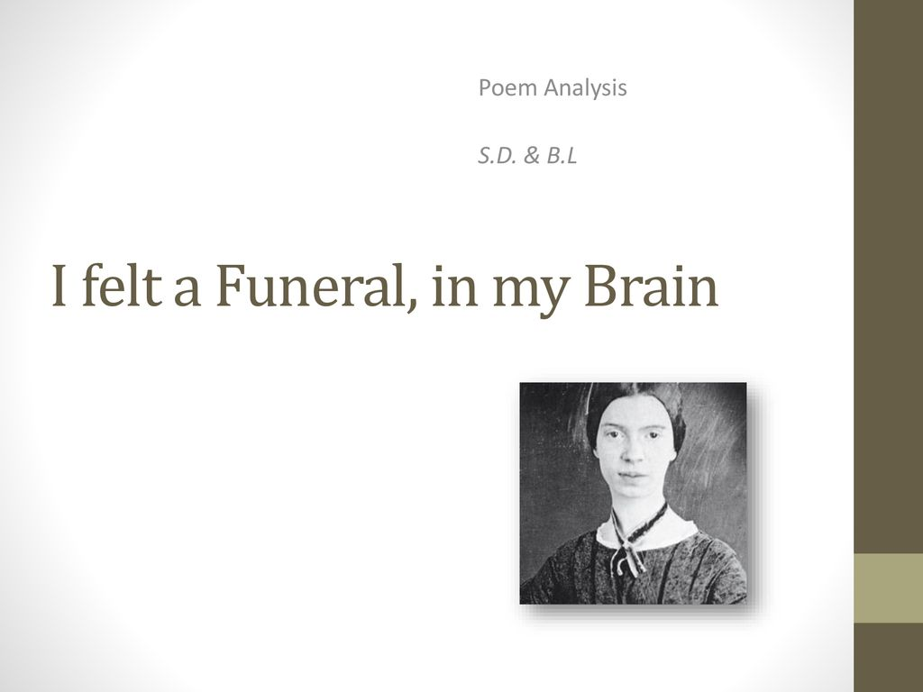 a funeral in my brain analysis