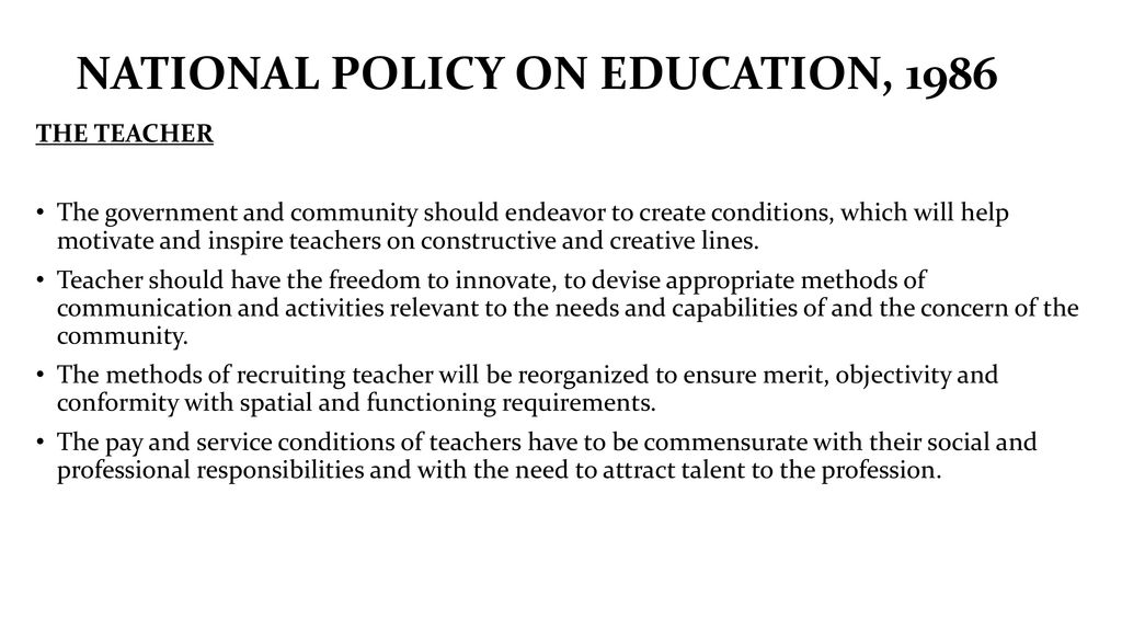 Teacher Education and Educational Policies - ppt download