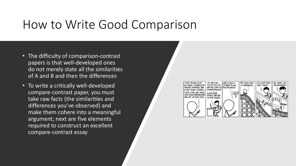 how to make a compare and contrast essay