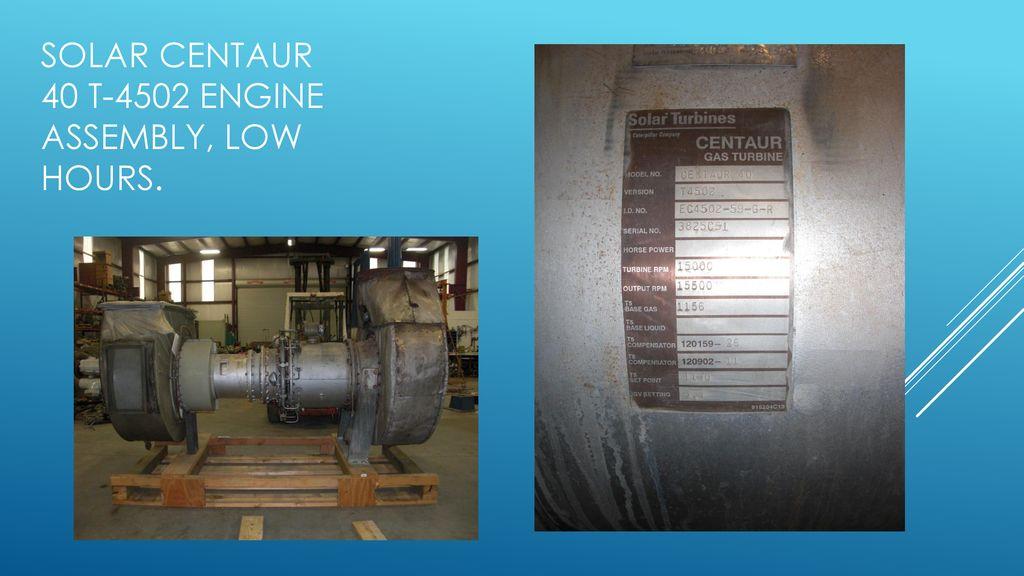 Solar Gas turbine Engine assemblies - ppt download