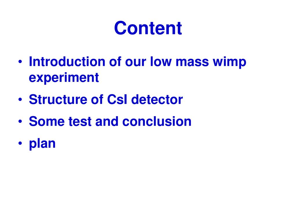 CsI Compton Veto Detector for A low Mass WIMP Experiment - ppt download