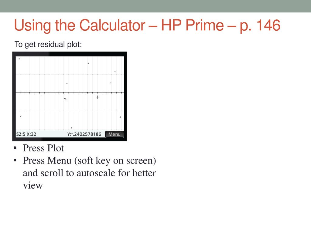 3 2 Residuals and the Least-Squares Regression Line - ppt