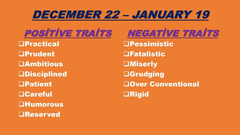 Negative zodiac signs