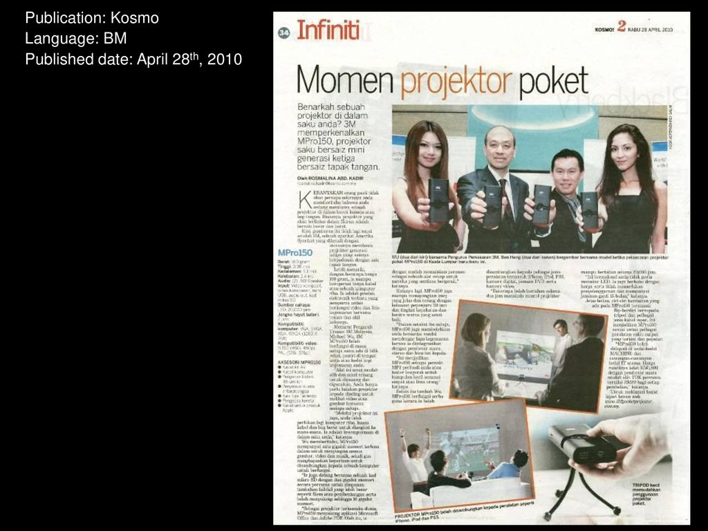 3m Mpro150 Press Clippings Ppt Download Tri 1gb Bm 9 Publication Kosmo Language Published Date April 28th 2010