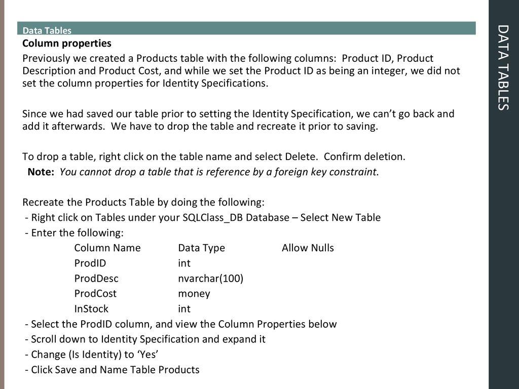 SQL Implementation & Administration - ppt download