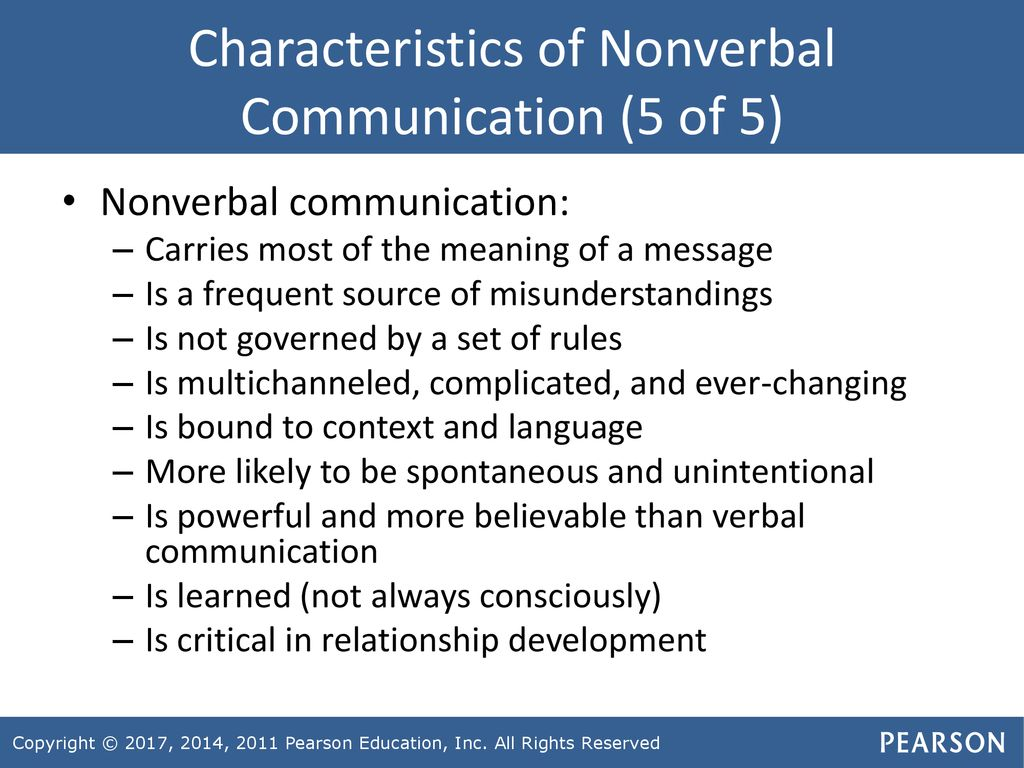 Communication nonverbal 5 of examples Examples of