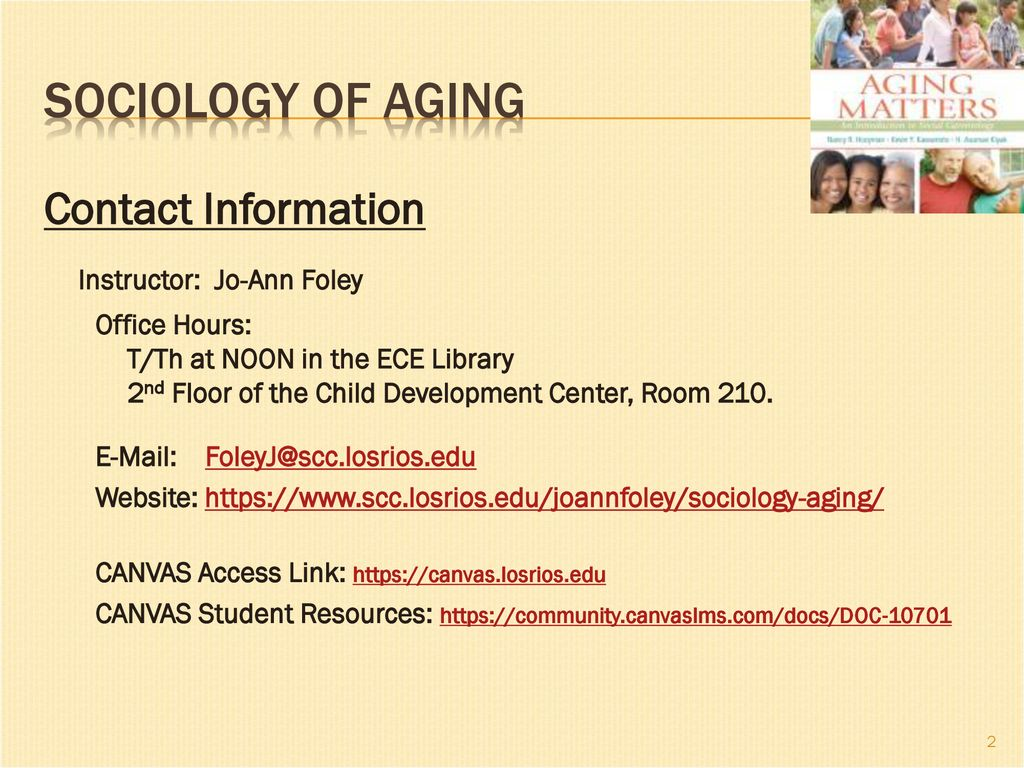 Welcome Students Sociology Of Aging Growing Old In A New Age Ppt