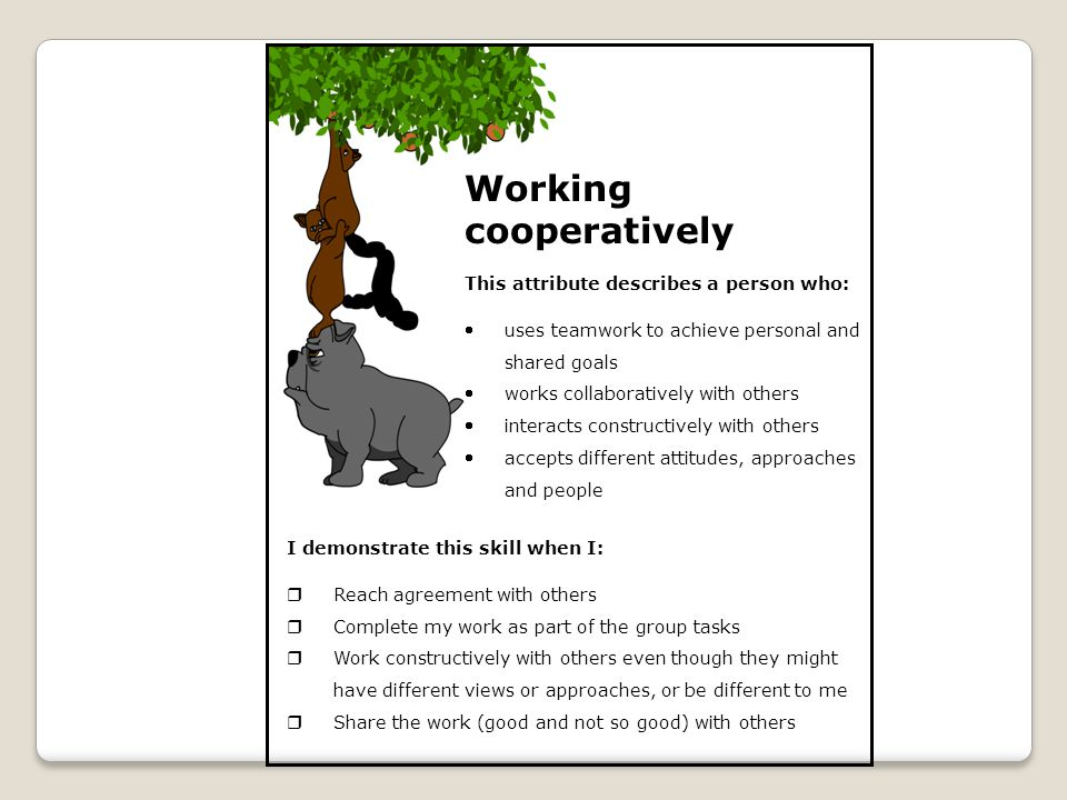 Working cooperatively