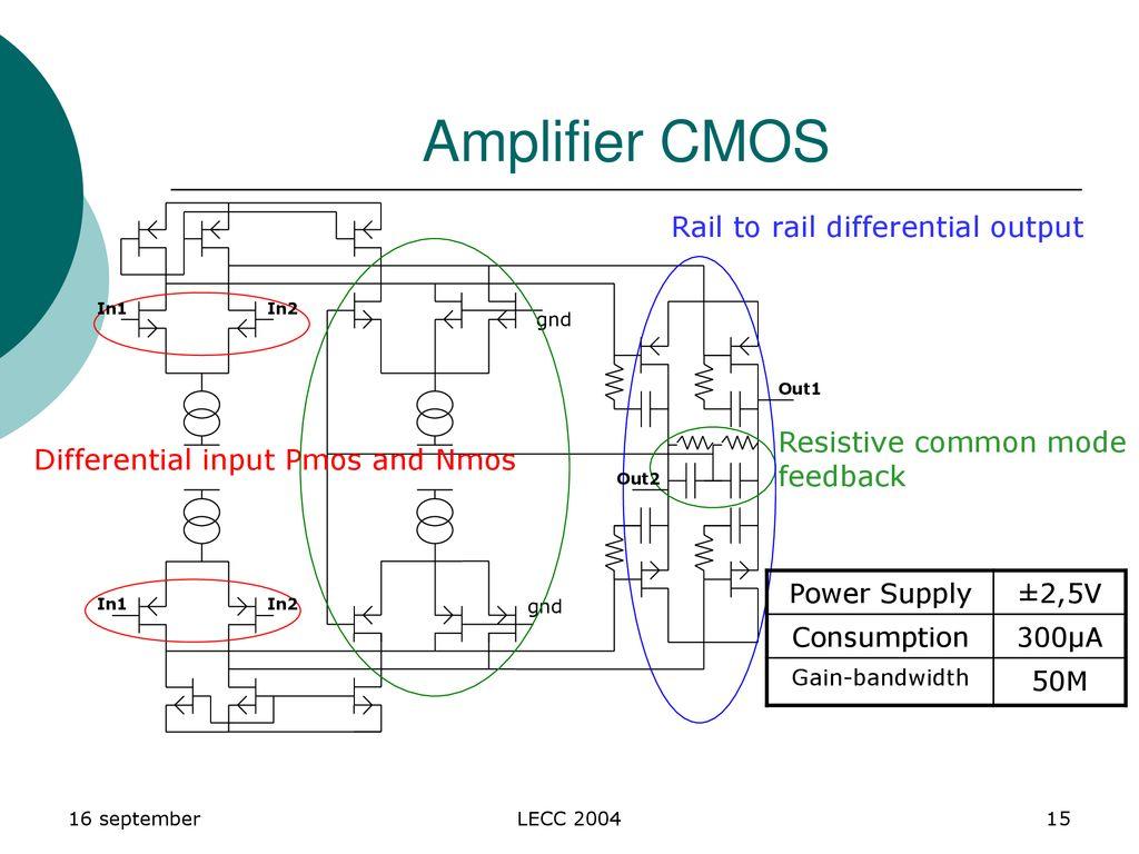 Calice Collaboration Lpc Clermont Lal Orsay Samuel Manen Julien Rail To Output Differential Amplifier Cmos Resistive Common Mode