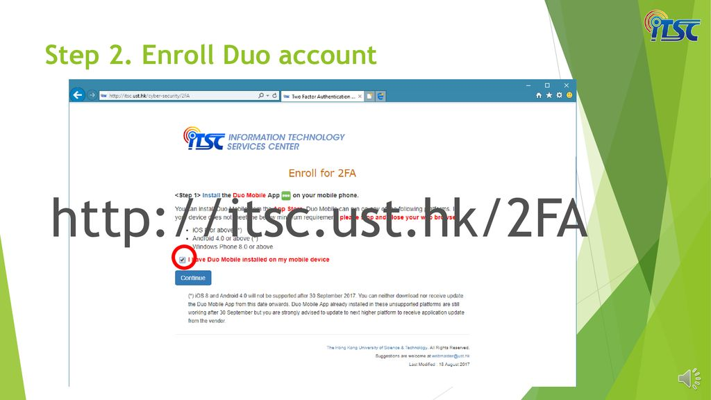 Enrolling Two-Factor Authentication (2FA) - ppt download