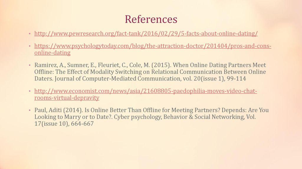 Online dating referencer