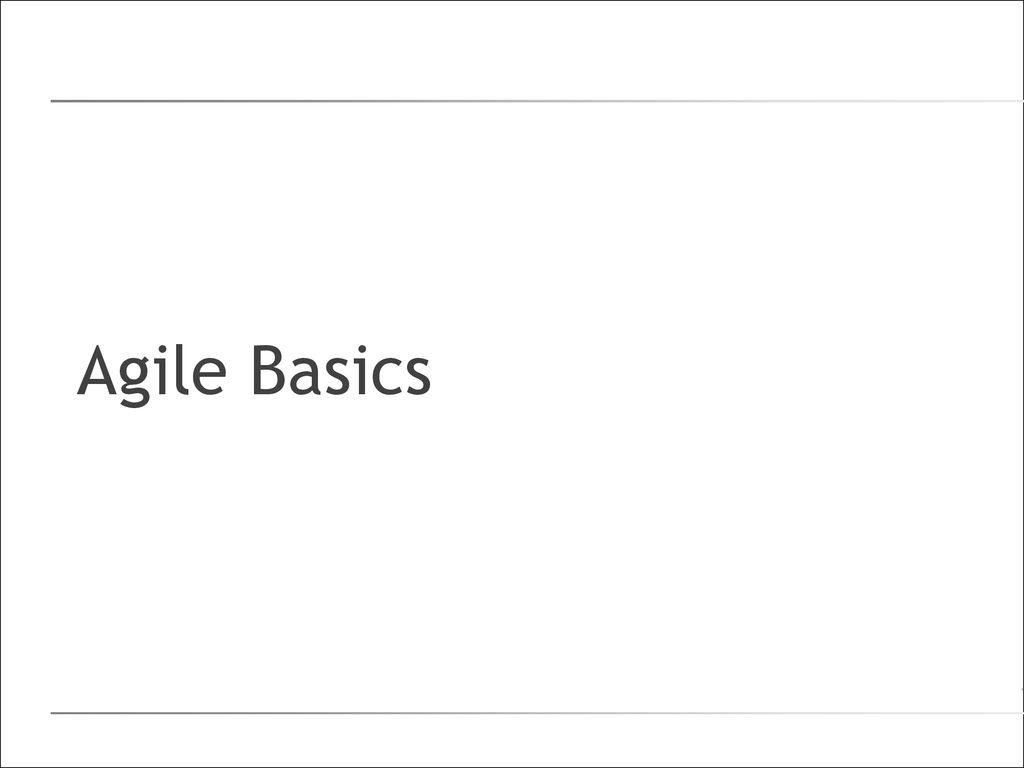 Agile Basics agile introduction. - ppt download