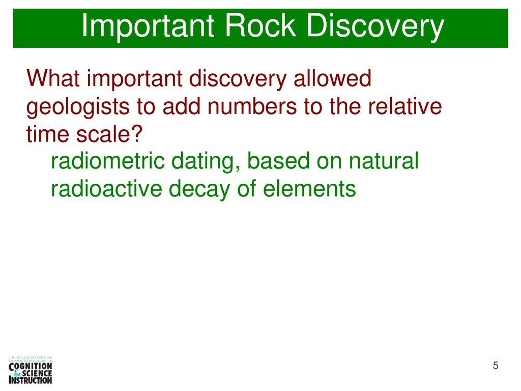 Exercise radiometric dating