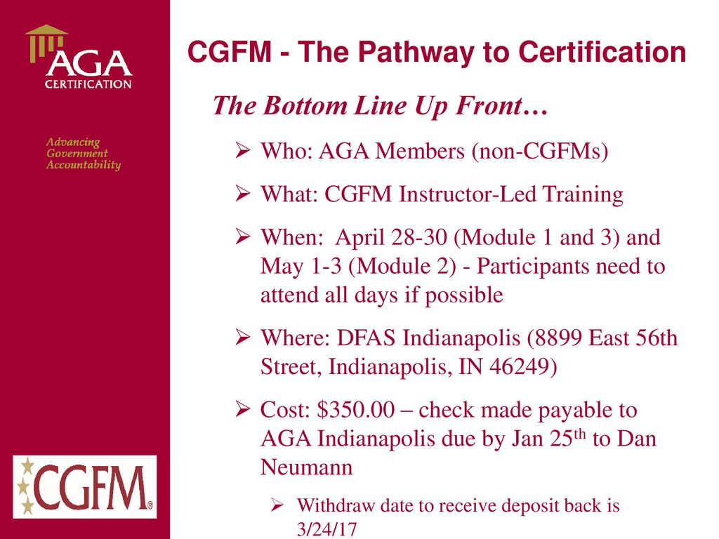 Cgfm The Pathway To Certification Ppt Download
