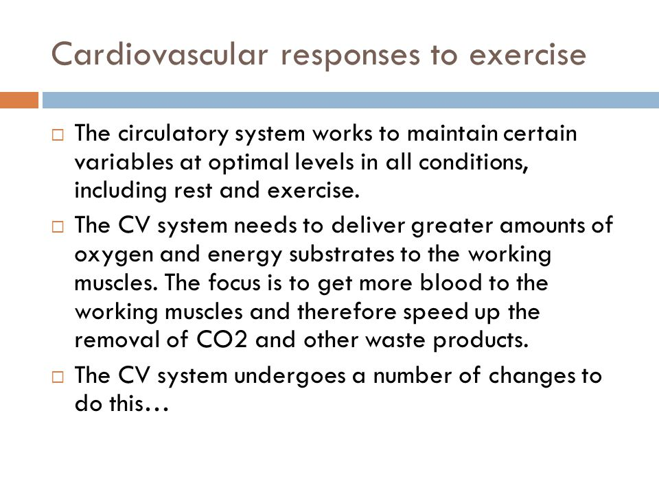 Cardiovascular responses to exercise