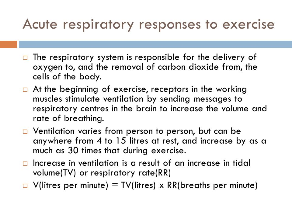 Acute respiratory responses to exercise