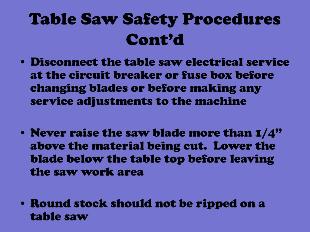Table Saw  - ppt download