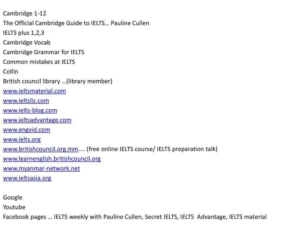 IELTS preparation talk - ppt download