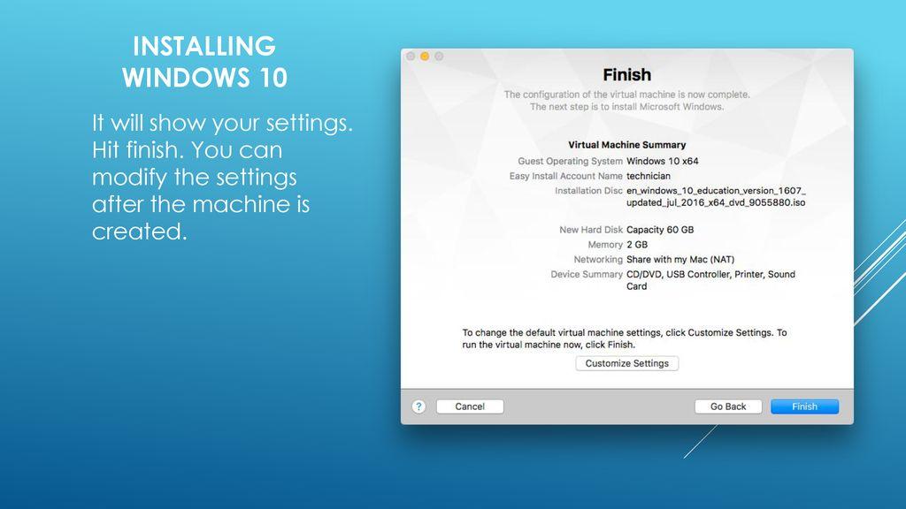 Creating a Windows 10 Virtual machine - ppt download