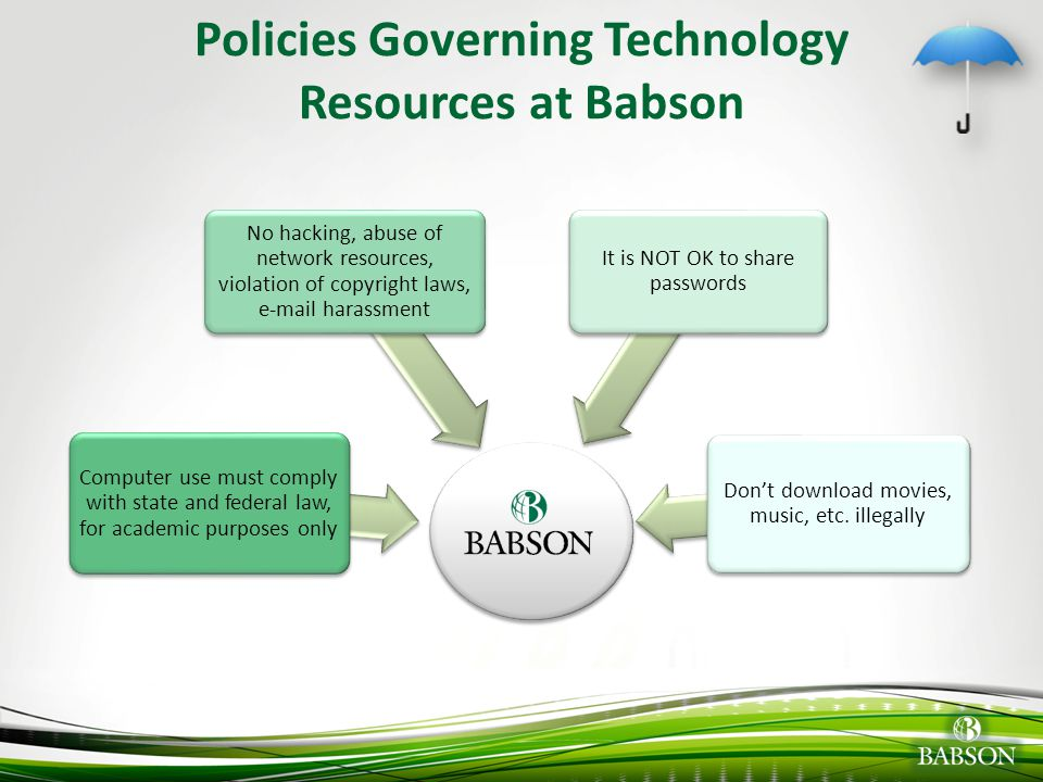 Policies Governing Technology Resources at Babson