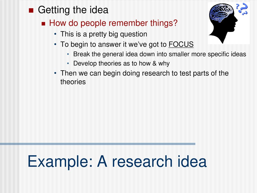 research idea example