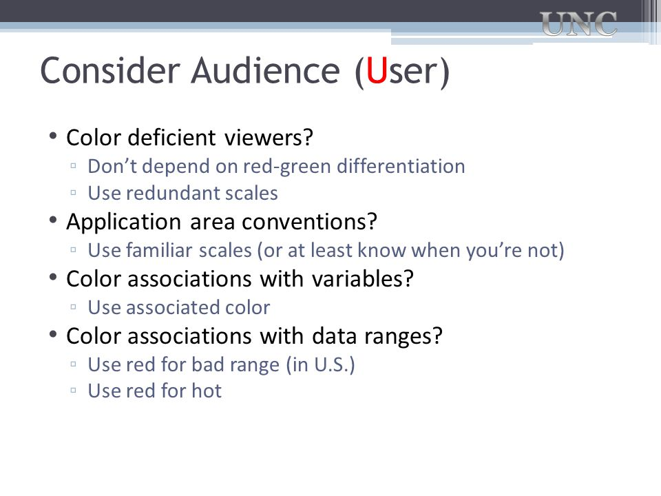 Consider Audience (User)