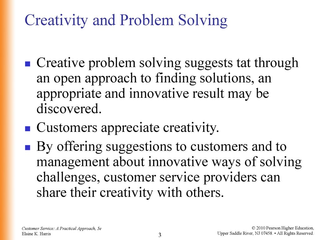 3 Creativity and Problem Solving