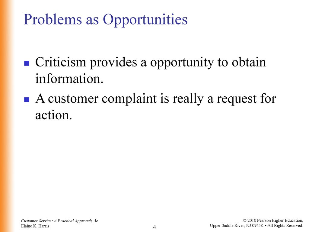 4 Problems as Opportunities