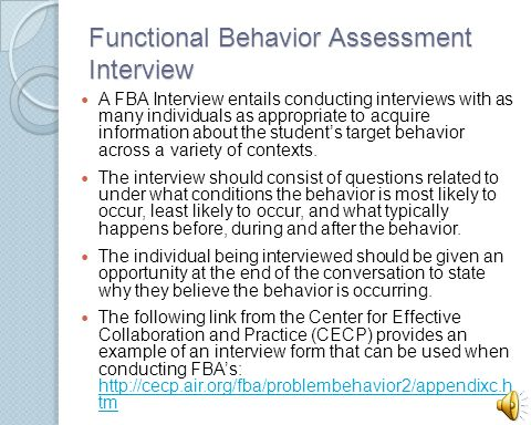 Functional Behavior Essment | Conducting Functional Behavior Assessments For Students With Asd
