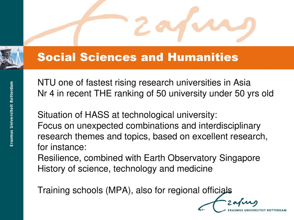 HUMANITIES AND SOCIAL SCIENCES RESEARCH AND POLICY IN SOUTH-EAST