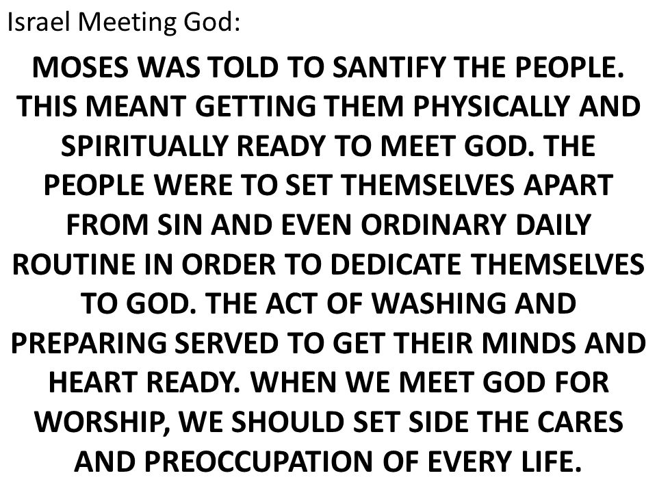 Israel Meeting God:
