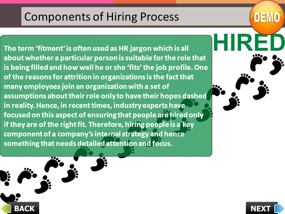 HIRED Components of Hiring Process