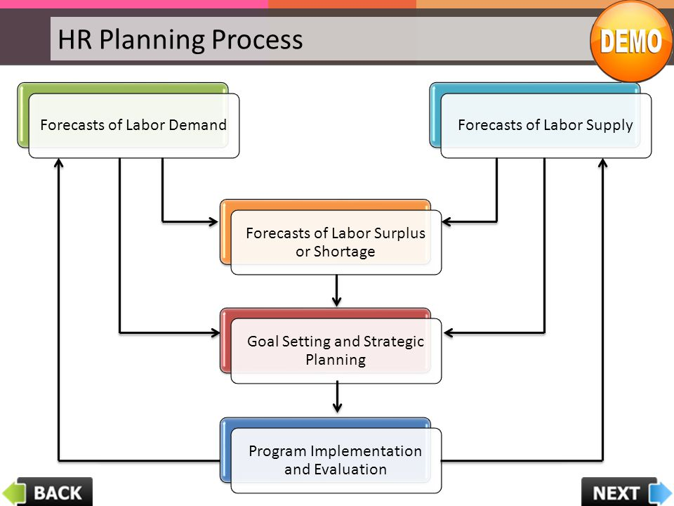 HR Planning Process Forecasts of Labor Demand