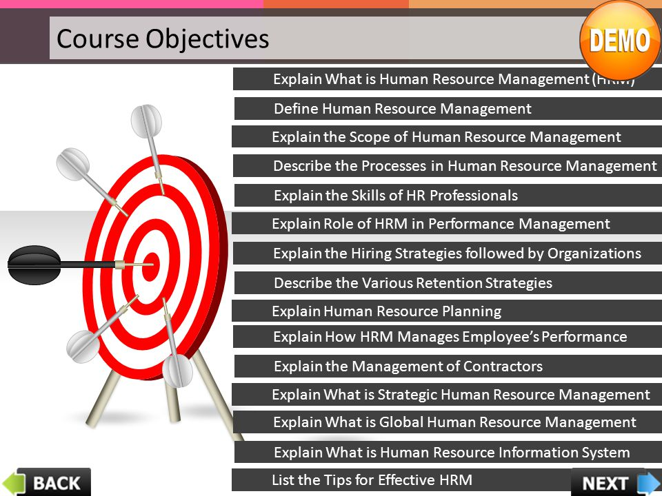 Course Objectives Explain What is Human Resource Management (HRM)