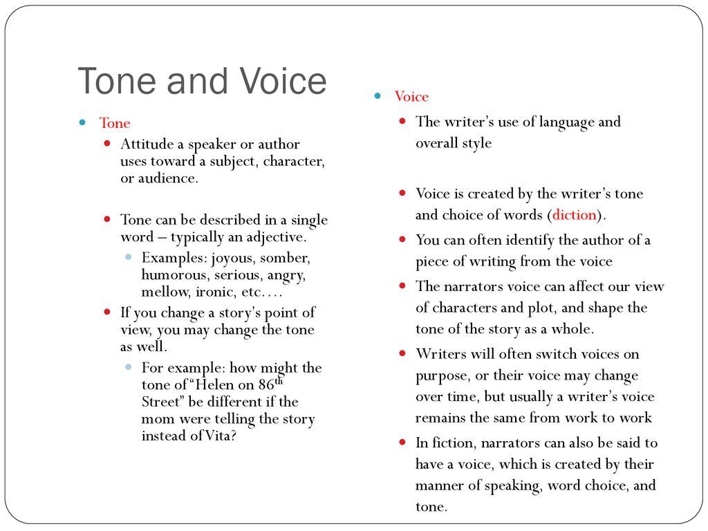 """The Interlopers"""" Tone & Voice Practice  - ppt download"""
